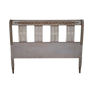Vintage French Country Custom Queen Headboard For Sale