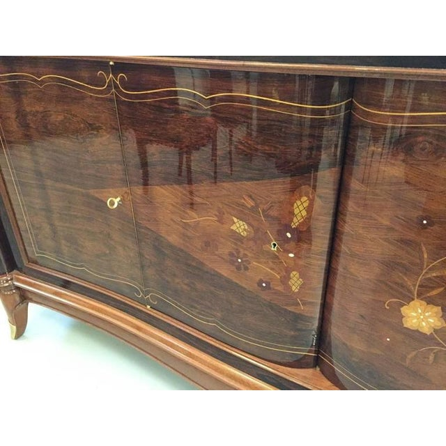 Jules Leleu Style French Art Deco Six-Door Buffet For Sale - Image 4 of 10