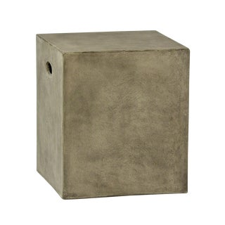 Concrete MIX Outdoor Stool/Side Table For Sale