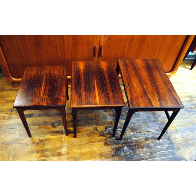 Danish Rosewood Nesting Tables - Set of 3 - Image 4 of 9