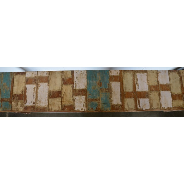 Vintage Reclaimed Wood Teak Indian Console For Sale - Image 5 of 8
