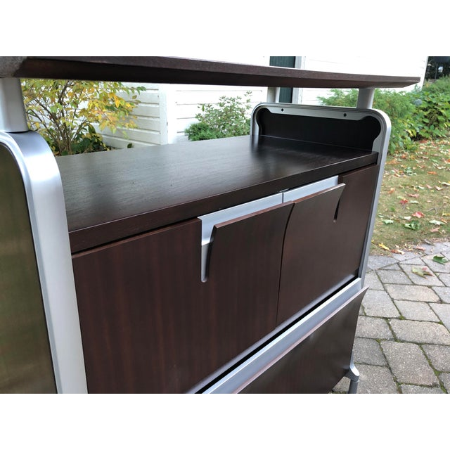 Herman Miller Herman Miller Rosewood & Metal Cabinet For Sale - Image 4 of 13