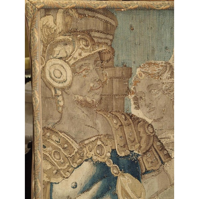 17th Century French Tapestry Fragment on Frame For Sale In Dallas - Image 6 of 11
