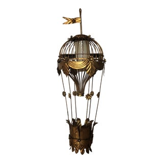 1940s Vintage Italian Hot Air Balloon Chandelier** For Sale