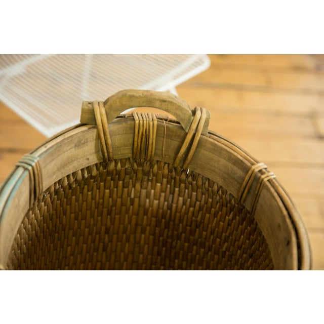 Old New House Natural Vintage Willow Basket For Sale - Image 4 of 10