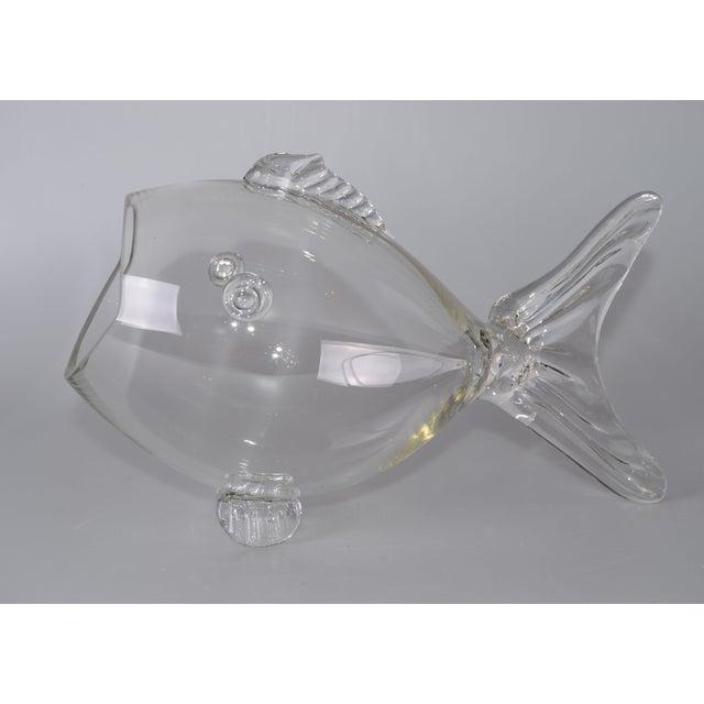 Blenko Handblown Glass Fish Candy Bowl - Image 8 of 9