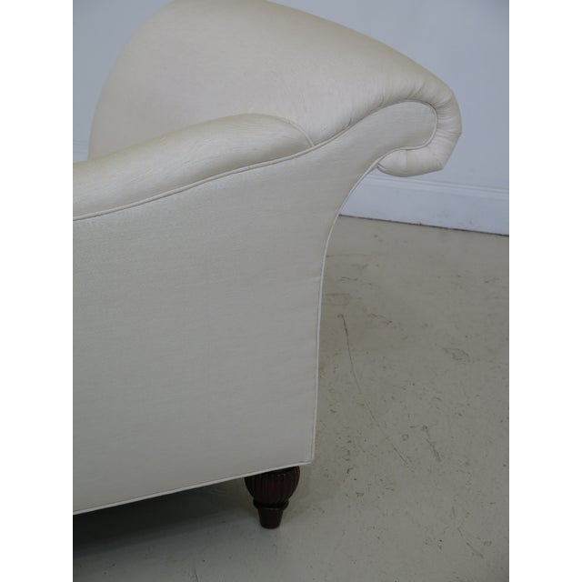 Traditional Baker Off-White Upholstered Chaise Lounge For Sale - Image 3 of 11