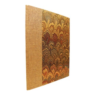 2010s Hand-Made Linen Octavo Book Traditionally Bound - Journal by M. Allen For Sale