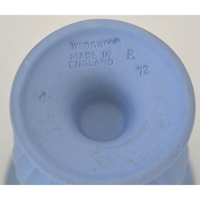 Antique Wedgwood Jasperware Blue & White Urn Vase England Miniature For Sale - Image 6 of 11
