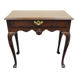Antique Chippendale Shell Carved Mahogany Console For Sale