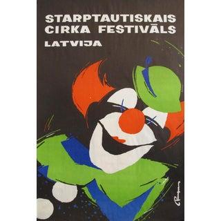 Original 1980s Latvian Circus Poster, 'Starptautiskais Cirka Festivals Latvija' For Sale