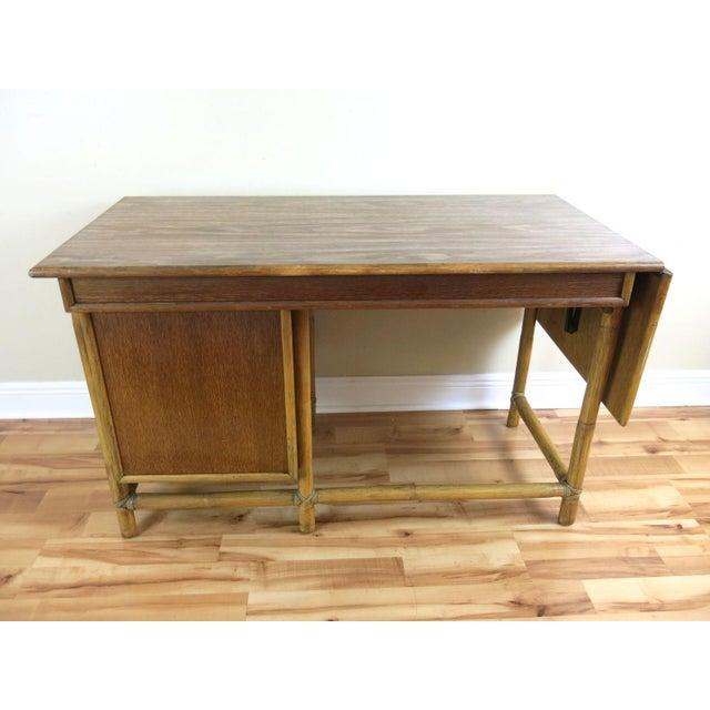 McGuire Bamboo Drop-Leaf Desk For Sale - Image 9 of 9