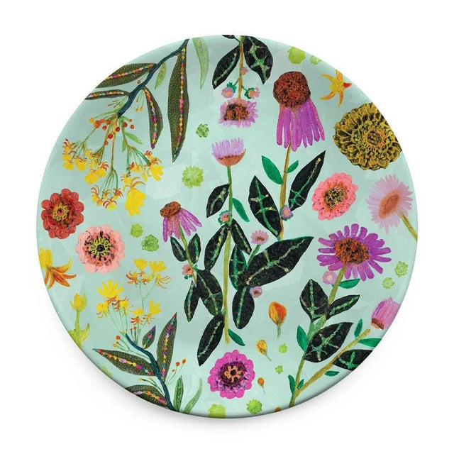 Kenneth Ludwig Chicago Kenneth Ludwig Chicago Wildflowers Plates - Set of 4 For Sale - Image 4 of 6
