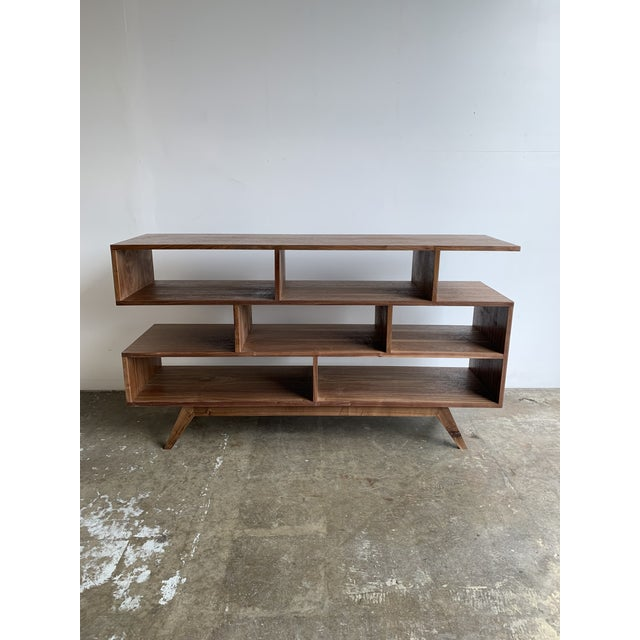 Walnut modern bookcase made for a staging project, used only for staging. We have others similar in various dimensions,...