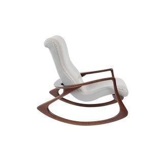 Vladimir Kagan Walnut Contour Rocking Chair For Sale