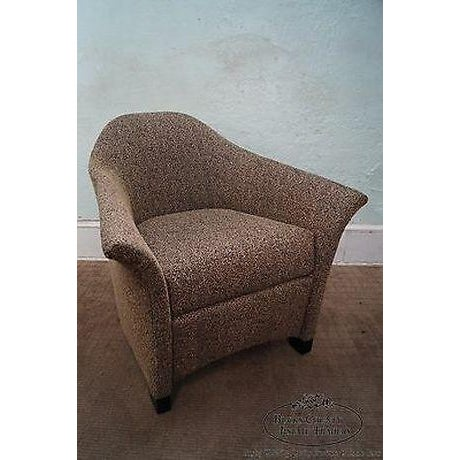 Thomasville Thomasville Casa Bique Leopard Print Club Lounge Chair For Sale - Image 4 of 13
