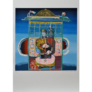 Luigi Rincicotti, I Dodici Mesi, January Lithograph For Sale