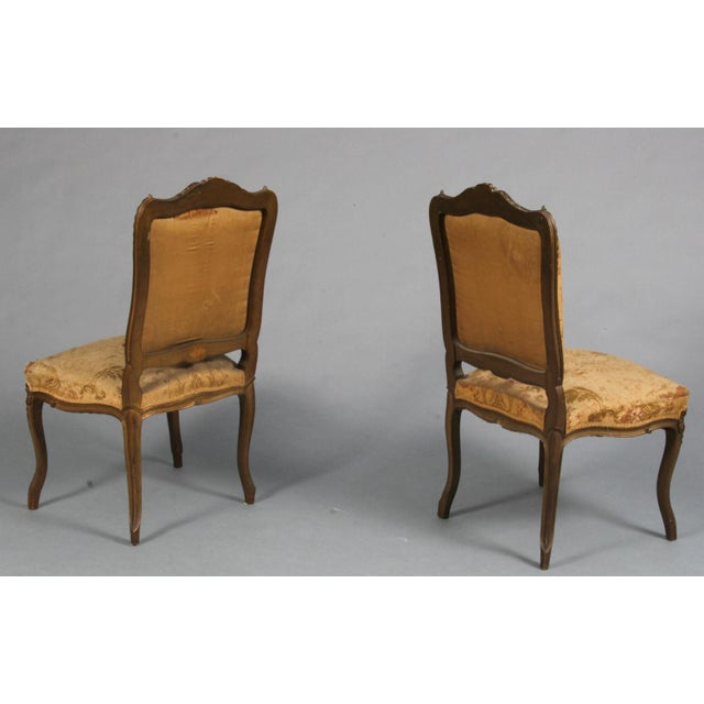Metal Pair of Rococo Chairs Early 19th Century For Sale - Image 7 of 8