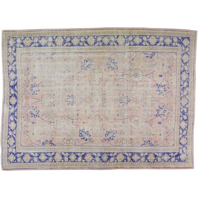 """Textile Vintage Turkish Hand Knotted Whitewash Organic Wool Fine Weave Rug,7'9""""x10'6"""" For Sale - Image 7 of 7"""