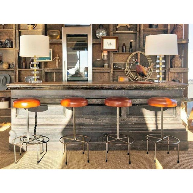 Empiric Bar Stool in Cognac Leather - a Pair - Image 3 of 3