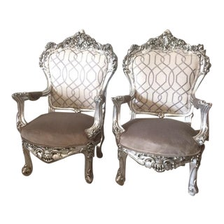 1900s Italian Baroque Chairs - A Pair For Sale