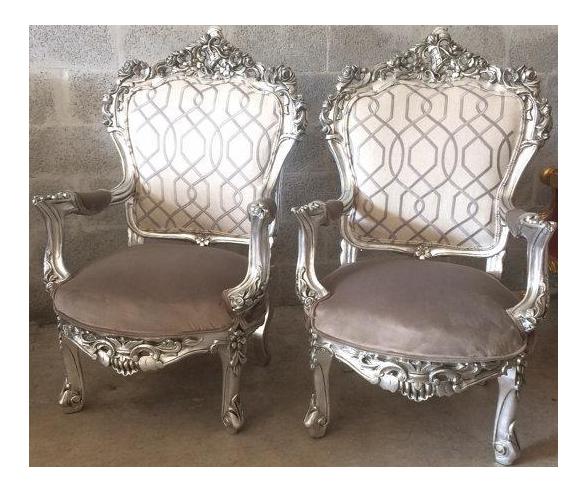 1900s Italian Baroque Chairs   A Pair