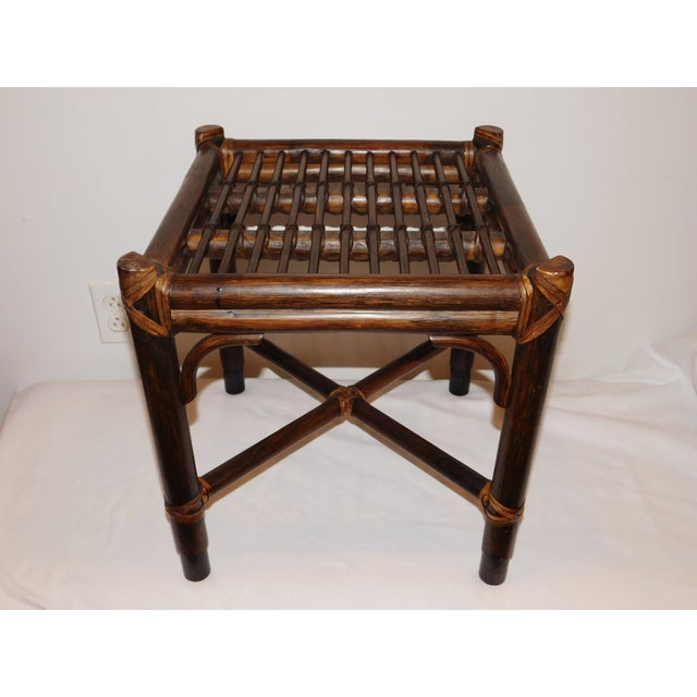 Vintage McGuire Rattan Benches - Pair - Image 10 of 10