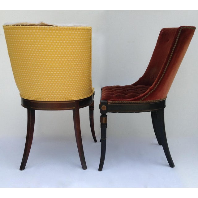 American Classical Vintage Maison Jansen Side Chairs -A Pair For Sale - Image 3 of 11