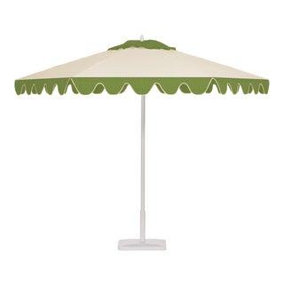 Kiwi Sorbet 9' Patio Umbrella, Green and White For Sale
