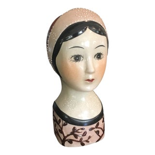 Vintage Face Vase Wall Pocket or Stand Alone