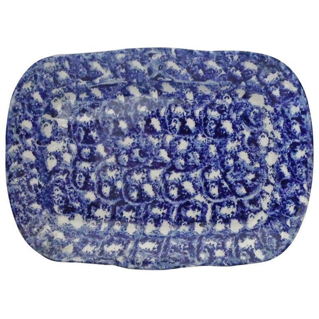 Large 19th Century Spongeware Platter from Pennsylvania - Image 1 of 4