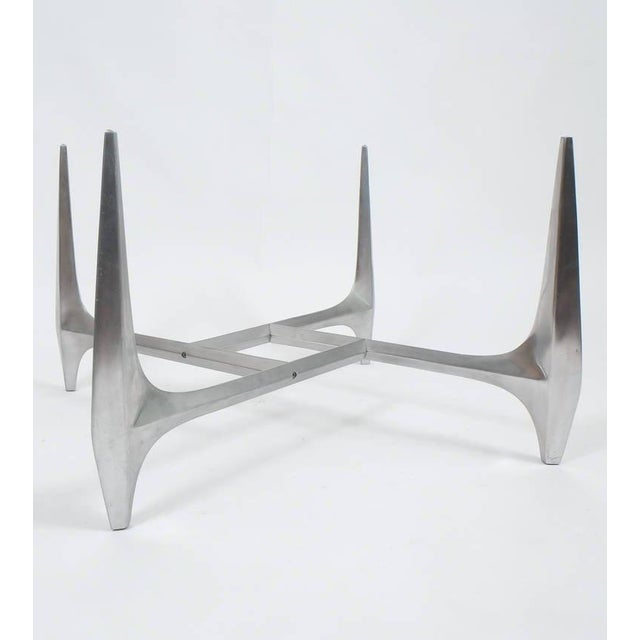 1960s Large Sculptural Aluminium Coffee Table by Knut Hesterberg For Sale - Image 5 of 6