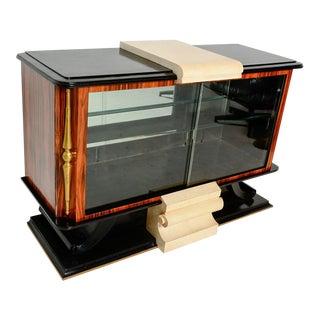 1930s French Art Deco Neoclassical Credenza Sideboard Roberto & Mito Block For Sale