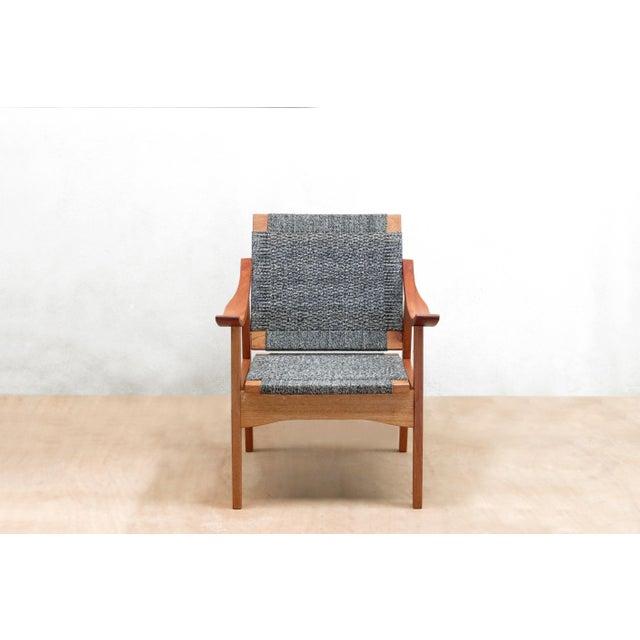 Handwoven Granito and Royal Mahogany Izapa Arm Chair - Image 4 of 6