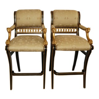 Ferguson Copeland Thomas Hope Regency Bar Stools- a Pair For Sale