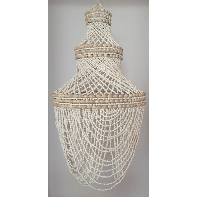 Beaded Shell Chandelier Lantern For Sale - Image 4 of 7