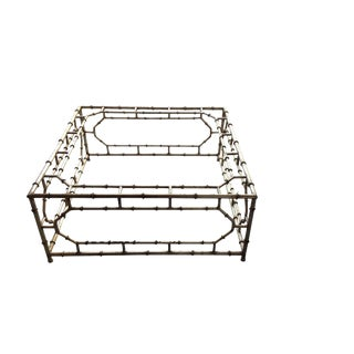 Chinoiserie-Style Vintage Iron Faux Bamboo Coffee Table