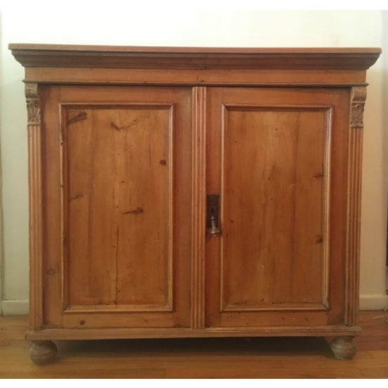 19th C Antique French Pine Cabinet For Sale - Image 13 of 13