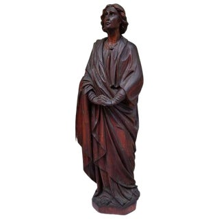 Early 19th C. Female Religious Figure For Sale