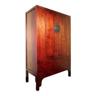 Mid 19th Century Antique Chinese Ming Wedding Cabinet For Sale