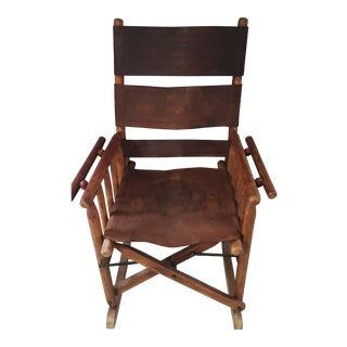 Vintage Costa Rican Rocking Chair For Sale
