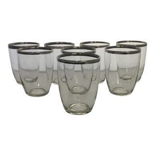 1960s Mid Century Danish Modern Federal Drinking Glasses - Set of 8 For Sale