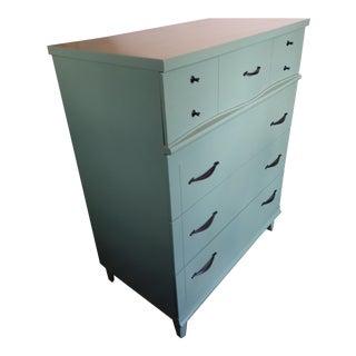 1950s Mid Century Modern Stanley Green Dresser For Sale