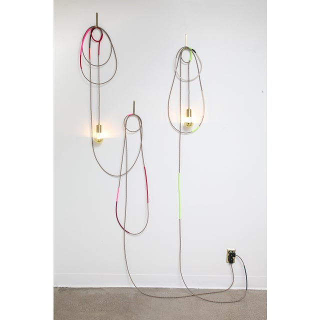 Contemporary Lasso Light Sconce by Chad Wentzel Made For Sale - Image 3 of 6
