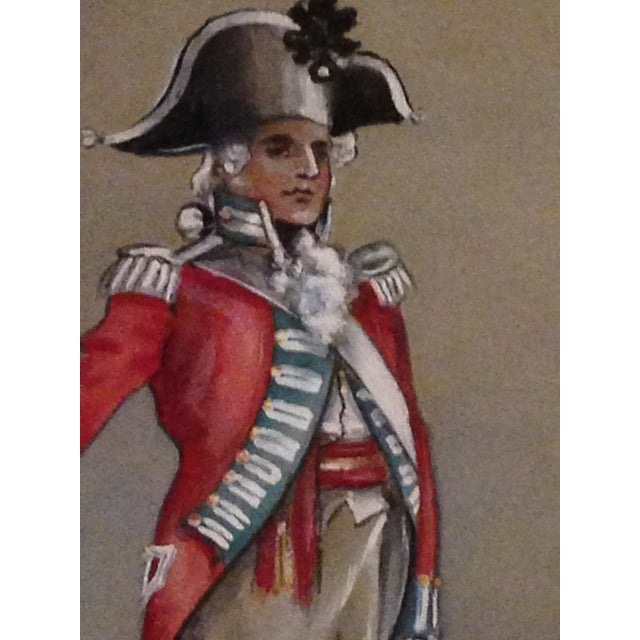 1890s Military Man Gouache Painting - Image 3 of 6
