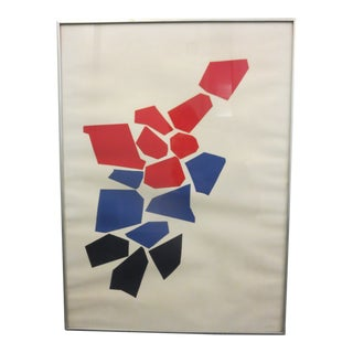 Robert Goodnough Abstract Pencil Signed Limited Edition Silkscreen Print, 1968 For Sale