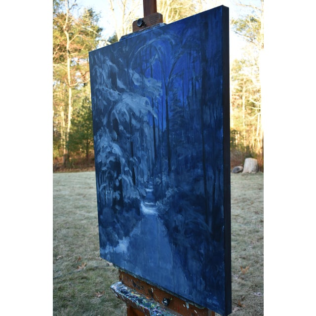 """2010s """"Following Moonlight"""" Contemporary Expressionist Painting by Stephen Remick For Sale - Image 5 of 11"""