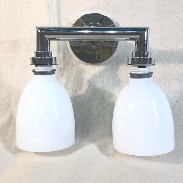 Chrome Visual Comfort Chapman & Myers Wilton Double Bath Light For Sale - Image 8 of 8
