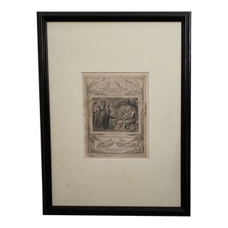1825 William Blake Engraving of Job, England For Sale