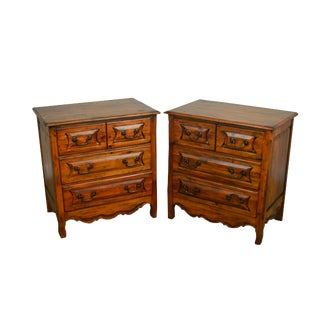 Habersham Plantation Distressed Pine French Country Style Chests Nightstands - a Pair For Sale